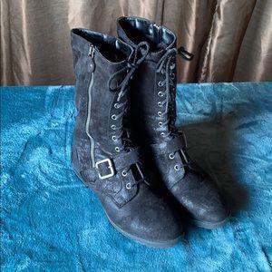 Bare Traps Black Suede Boots